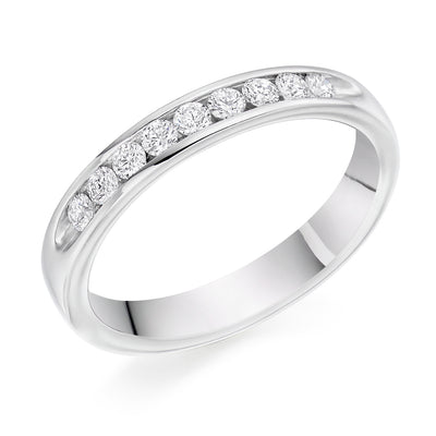 Diamond Set Half Eternity Ring - WB9000
