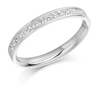 Diamond Set Half Eternity Ring - WB993