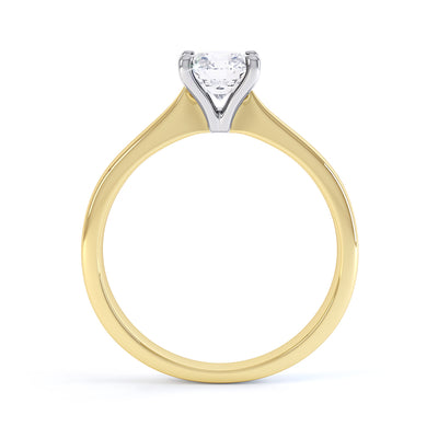 4 Claw Round Diamond Solitaire Ring - BK1016