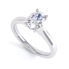 4 Claw Oval Diamond Solitaire Ring - BK1018