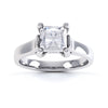 4 Claw Square Diamond Solitaire Ring - BK1021