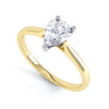 3 Claw Pear Diamond Solitaire Ring - BK1023