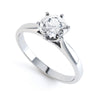 6 Claw Round Diamond Solitaire Ring - BK1025