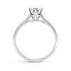 4 Claw Round Diamond Solitaire Ring - BK1026
