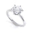 6 Claw Round Diamond Solitaire Ring - BK1027