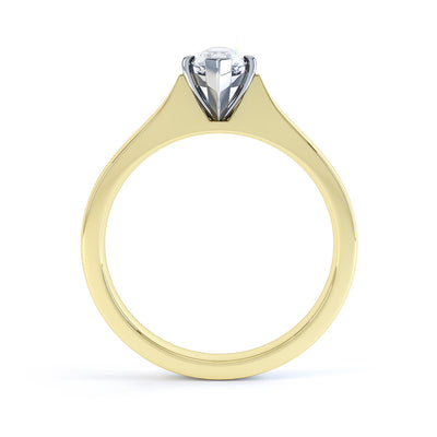 4 Claw Marquise Diamond Solitaire Ring - BK1019