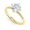 4 Claw Round Diamond Solitaire Ring - BK1024