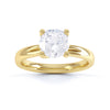 4 Claw round Diamond Solitaire Ring - BK1022