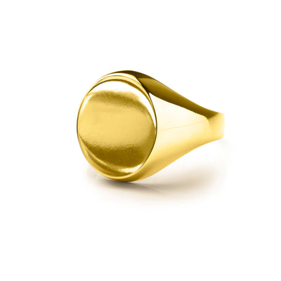 Mens Round Signet ring -  BM1003