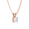 Split Bail Round 4 Claw Solitaire Diamond Pendant - BDJ1008