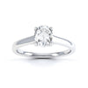 4 Claw Oval Diamond Solitaire Ring - BK1012