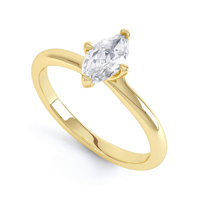 4 Claw Marquise Diamond Solitaire Ring - BK1011