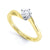 Simple Twist Diamond Solitaire Ring - BK1007