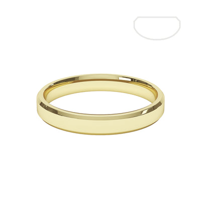 Ladies Bevelled Wedding Ring - BKW1001