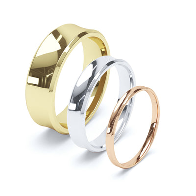 Ladies Concave Wedding Ring - BKW1008