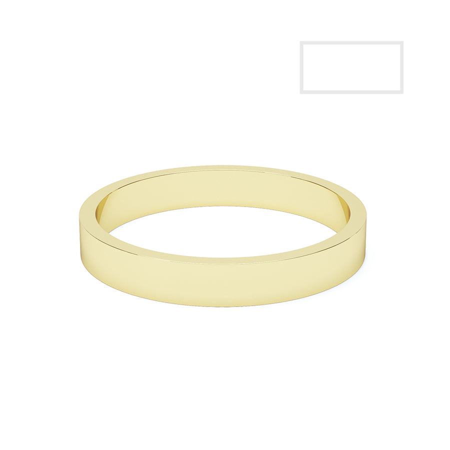 Ladies Flat Wedding Ring - BKW1003