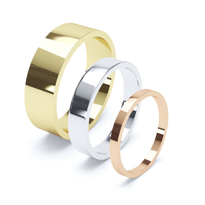 Flat Wedding Ring - BKW1003