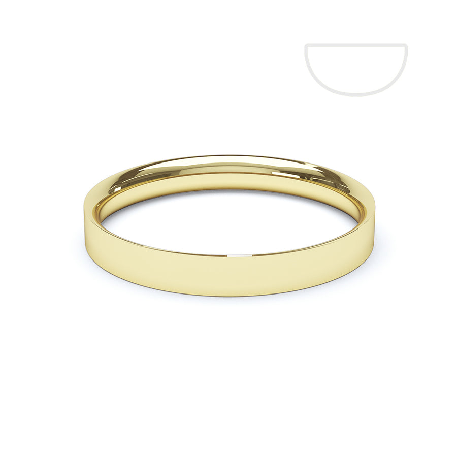 Ladies Flat Court Wedding Ring - BKW1004