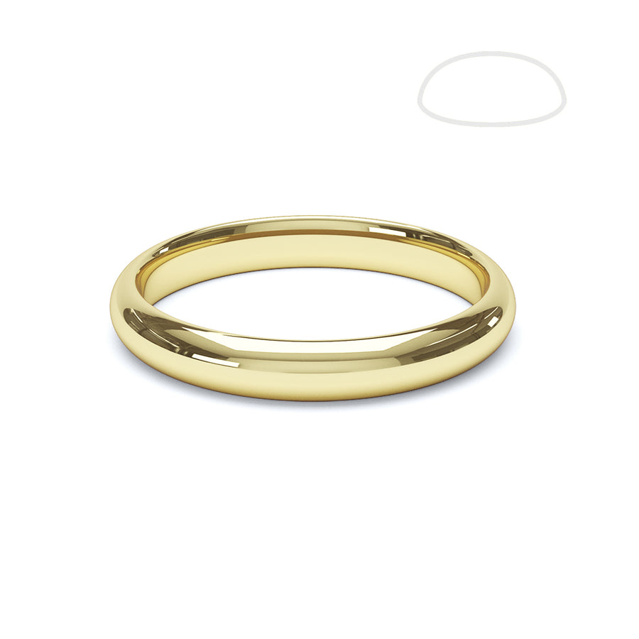 Gents Paris Wedding Ring - BKW1006