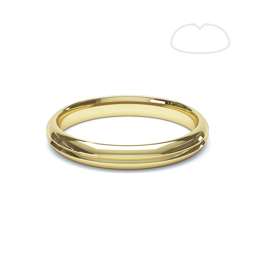 Gents Paris Groove Wedding Ring - BKW1007