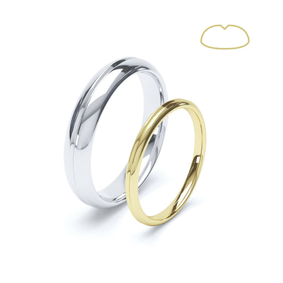 Paris Groove Wedding Ring - BKW1007