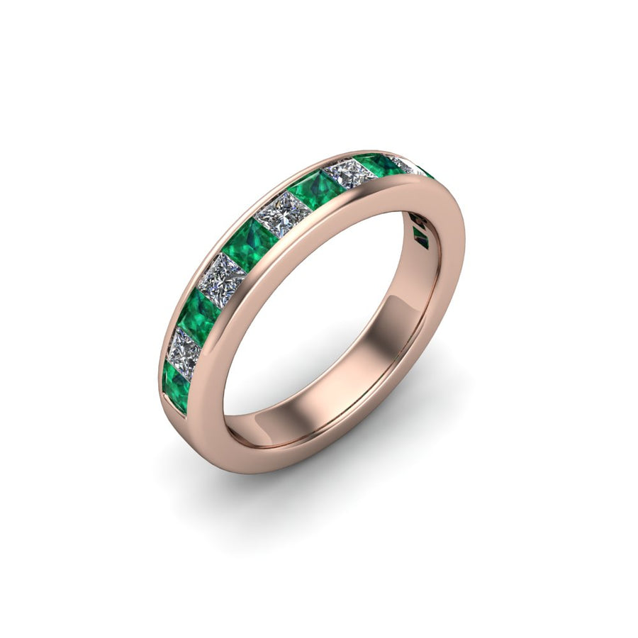 Emerald & Diamond Eternity Gemstone Band - SCS02632EMR