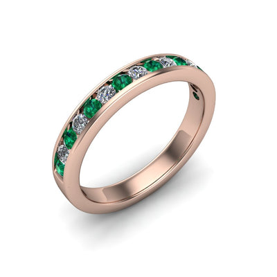 Gemstone & Diamond Eternity Band - SCS03132