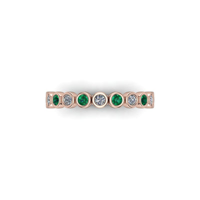 Gemstone & Diamond Eternity Band - SCS03208