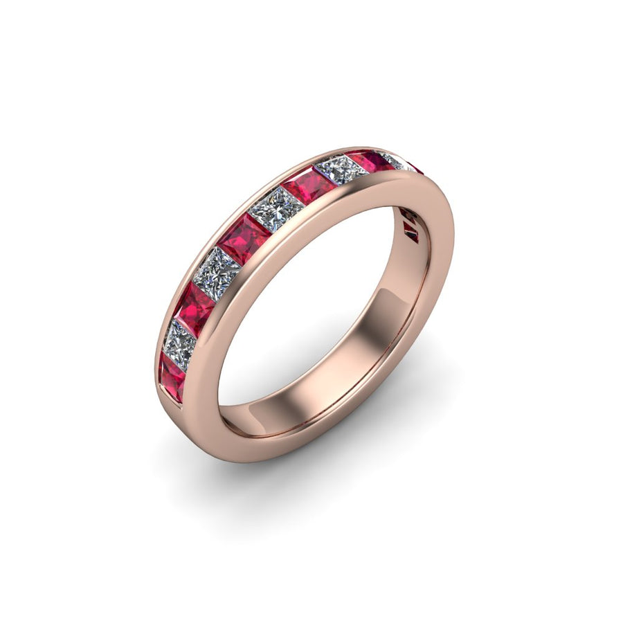 Ruby & Diamond Eternity Gemstone Band - SCS02632RBY