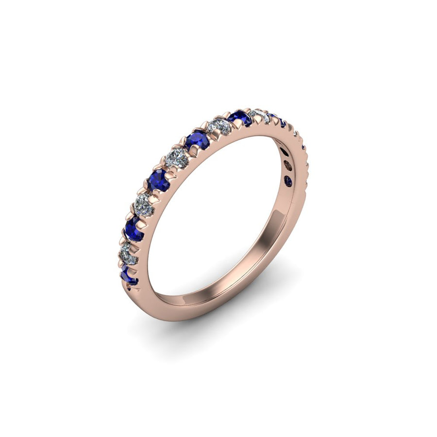 Sapphire & Diamond Eternity Gemstone Band - SCS03206SPH