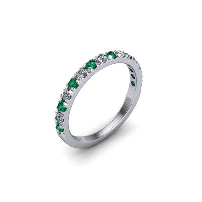 Gemstone & Diamond Eternity Band - SCS03206