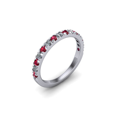 Ruby & Diamond Eternity Gemstone Band - SCS03206RBY