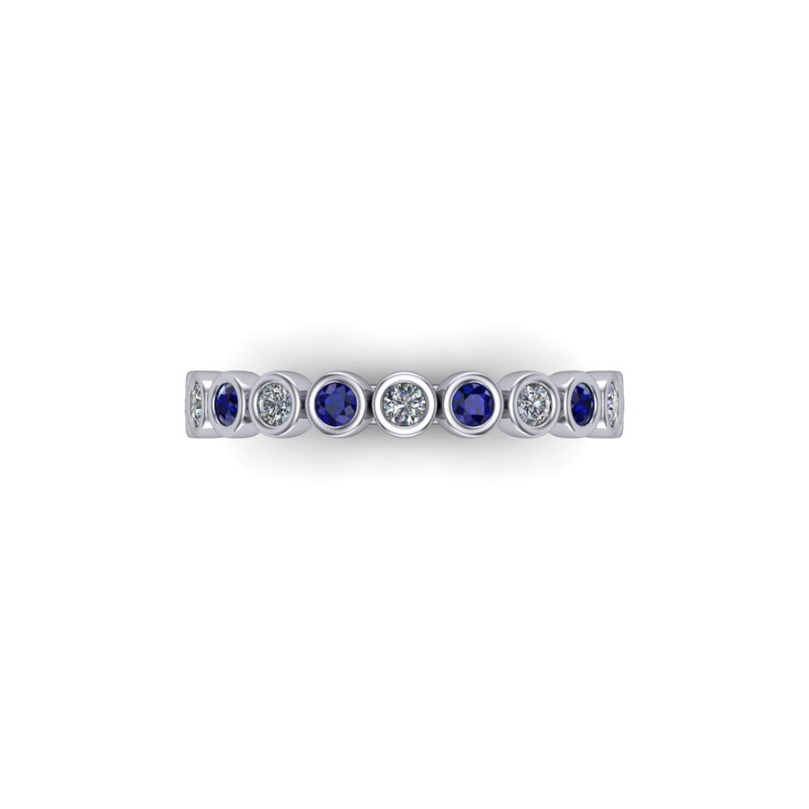 Sapphire & Diamond Eternity Gemstone Band - SCS03208SPH