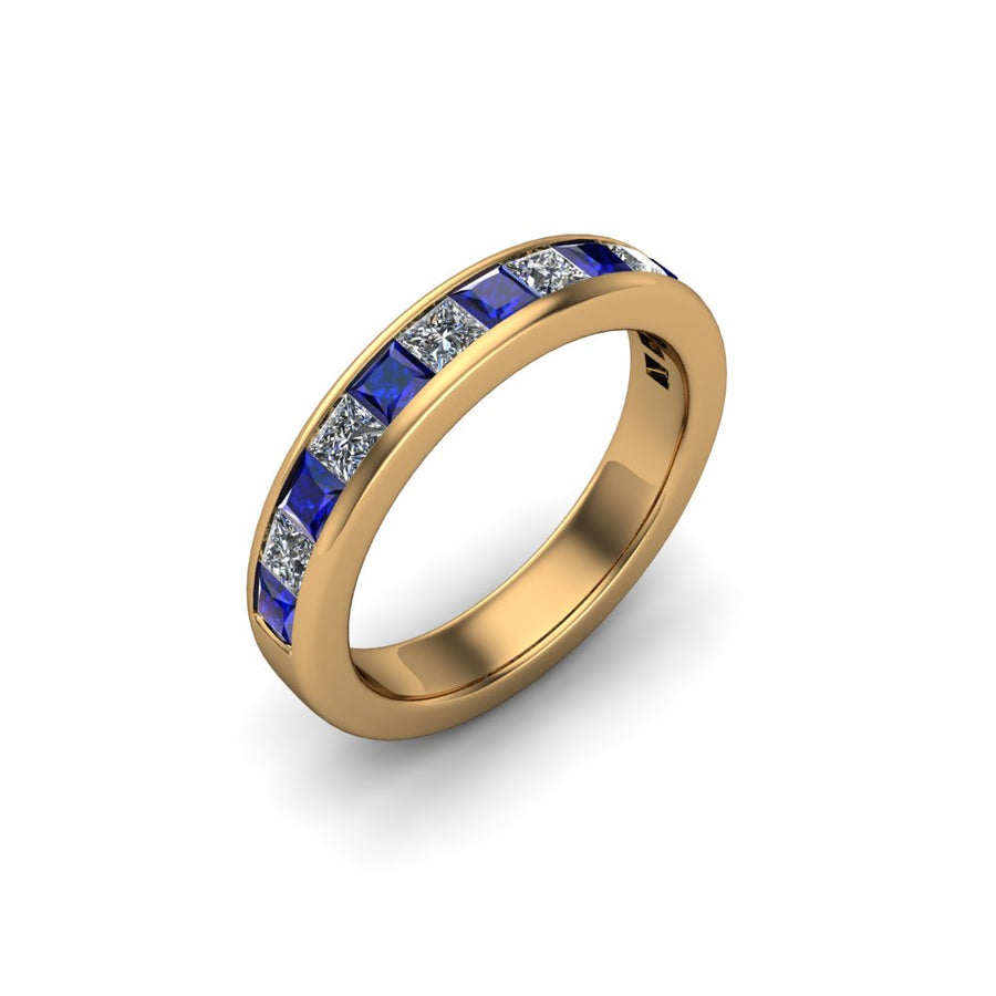 Sapphire & Diamond Eternity Gemstone Band - SCS02632SPH
