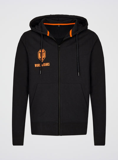 World of Tanks Logo Embroidered Zip Up Hoodie