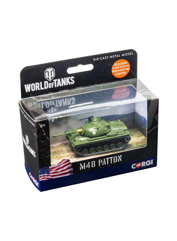 World of Tanks diecast model M48 Patton Tank 1:72