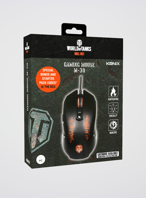 World of Tanks KONIX M-30 Shooter Mouse