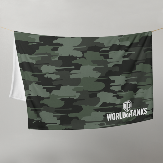 World of Tanks Throw Blanket Tank Camo