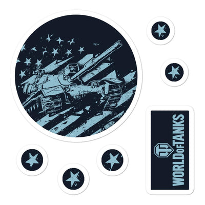 World of Tanks USA Flag Stickers