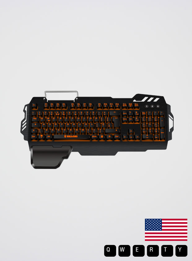 World of Tanks KONIX K-50 S/MK Semi-Mechanical Keyboard US QWERTY layout