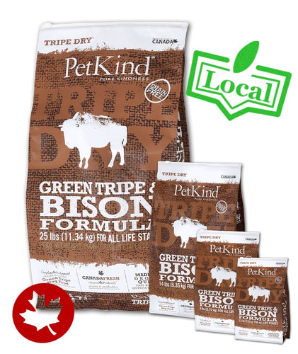 PetKind - Green Tripe & Bison (11.34kg) - {Wild Coast Pet Food}