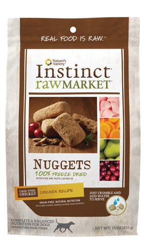Instinct - Raw Market Chicken Nuggets (425g) - {Wild Coast Pet Food}