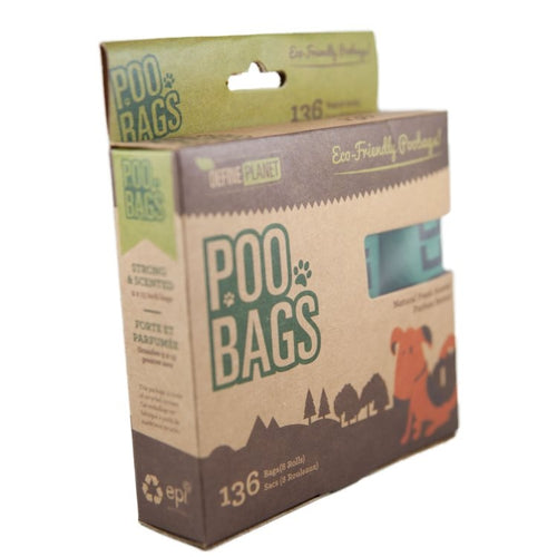 DefinePlanet - Poo Bags 8 rolls (136ct) - {Wild Coast Pet Food}
