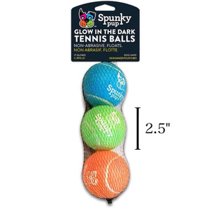 "Spunky Pup - Tennis Glow Balls -3pack (2.5"") - {Wild Coast Pet Food}"