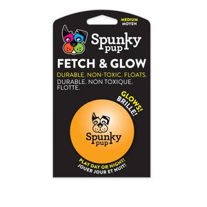 "Spunky Pup - Fetch & Glow Ball Medium (2.5"") - {Wild Coast Pet Food}"