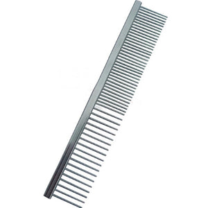 "Stainless Steel Dual Comb (6.5"") - {Wild Coast Pet Food}"