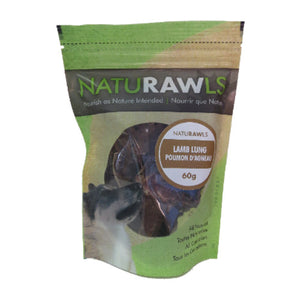 NatuRAWls - Dehydrated Lamb Lung 60g - {Wild Coast Pet Food}