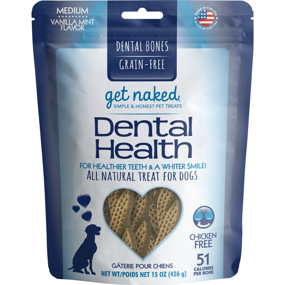 Get Naked - Grain Free Dental Health Bones (medium) 425g - {Wild Coast Pet Food}