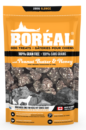 Boreal - Dog Treat Peanut Butter & Honey 150g - {Wild Coast Pet Food}