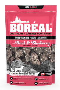 Boreal - Dog Treat Duck & Blueberry 150g - {Wild Coast Pet Food}